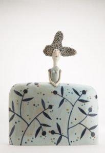 jane muir ceramics bowl and green gages